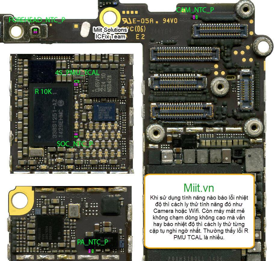 Sửa iPhone 6 Báo Nhiệt Độ Cao Tắt Máy