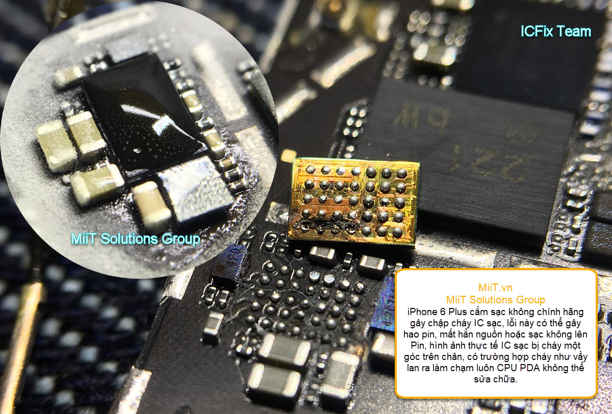 Kinh Nghiệm Sửa iPhone 6 Plus Lỗi Sạc Không Vào Lâu Vào Pin