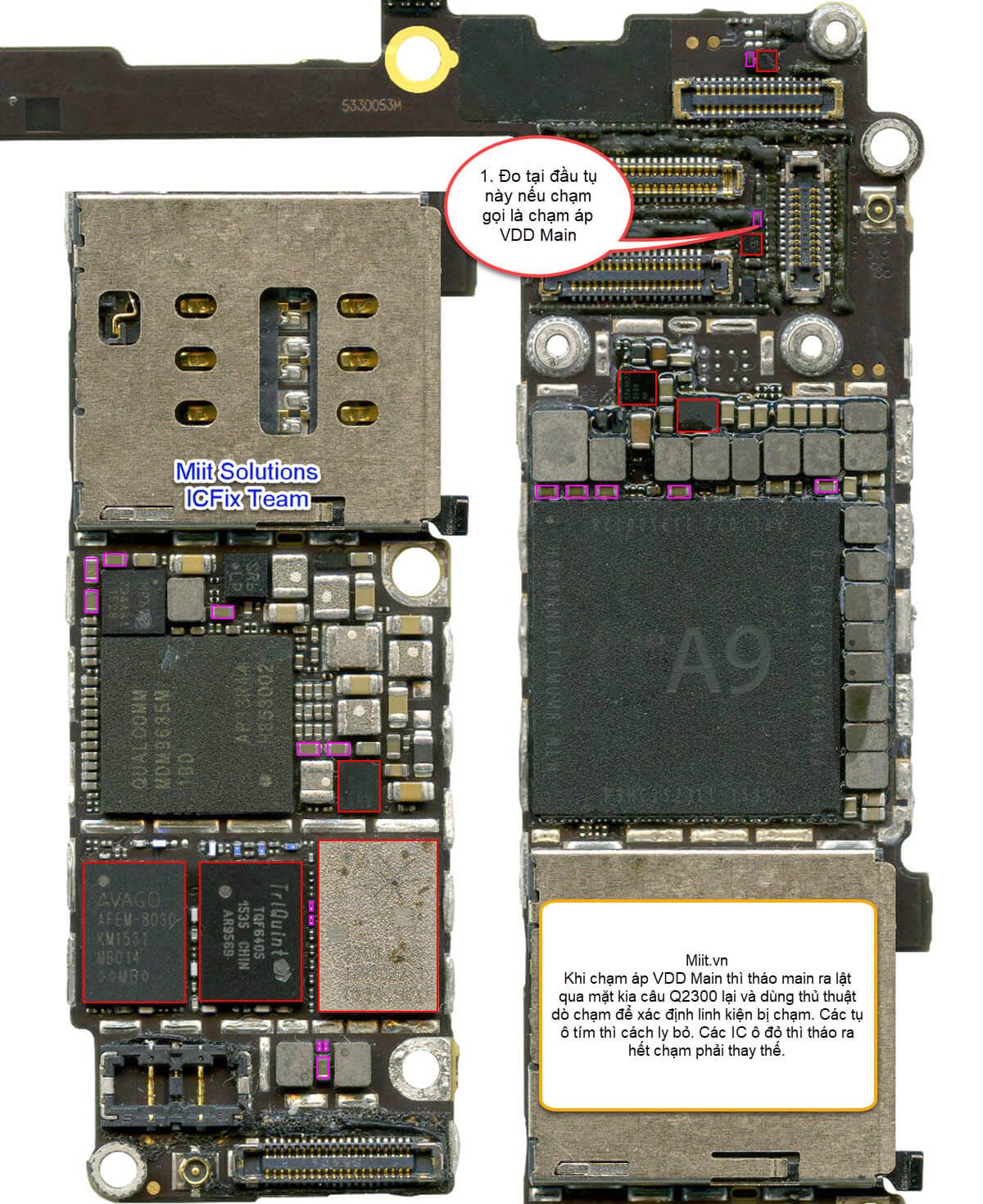 iPhone 6S Chạm VDD Main