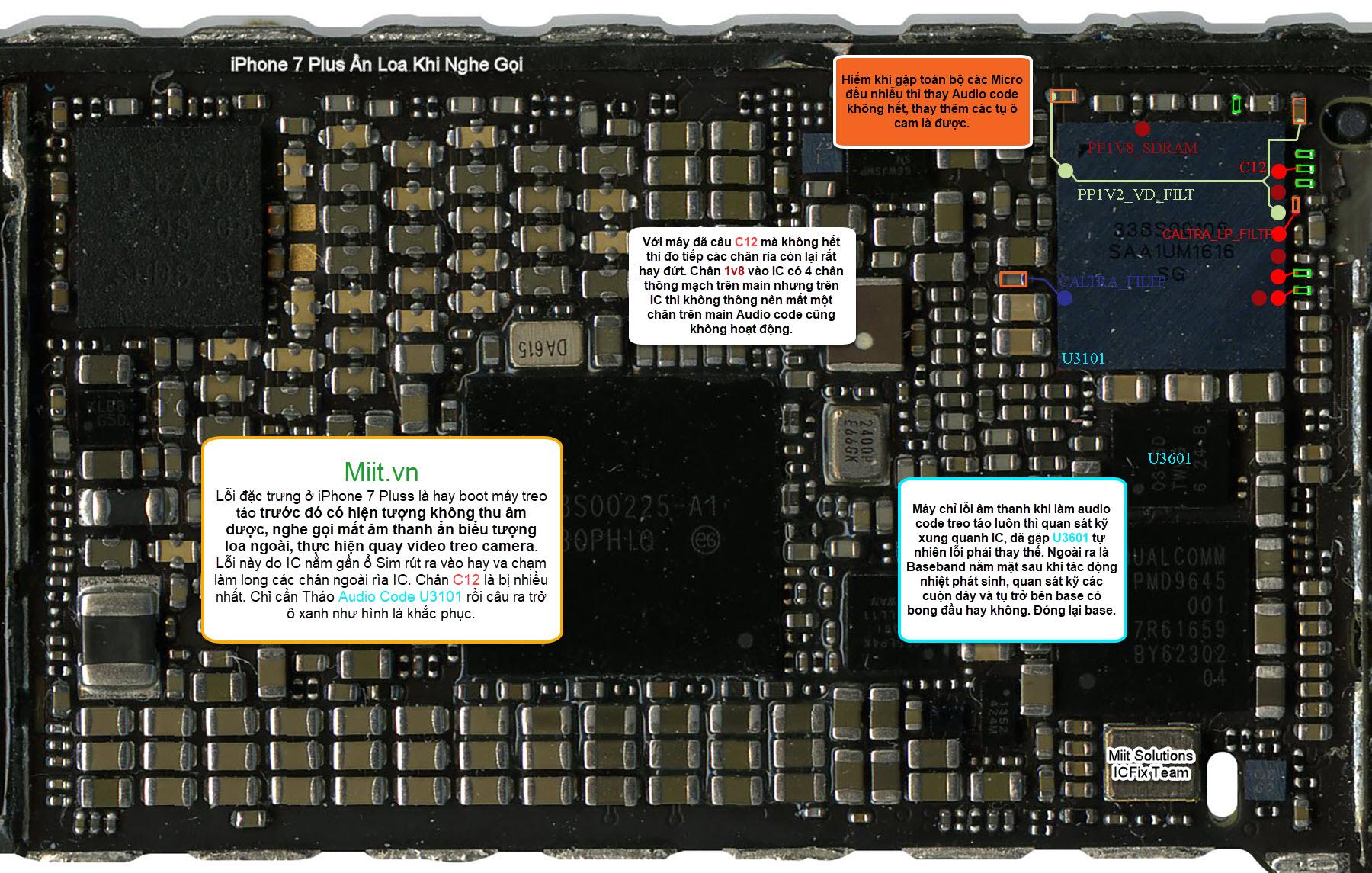 Sửa iPhone 7 Plus Mất Âm Thanh, Ẩn Loa Khi Nghe Gọi
