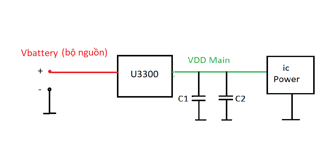 Sơ đồ chuyển mạch Vbatt - Vcc Main