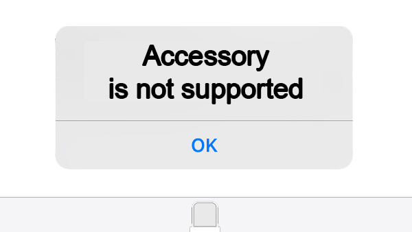 Accessory Not Support