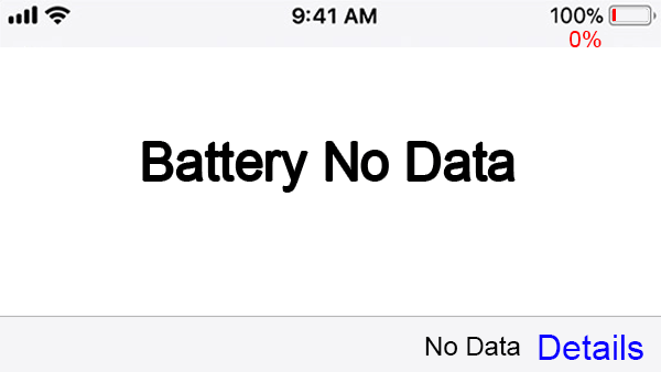 iPhone Battery No Data