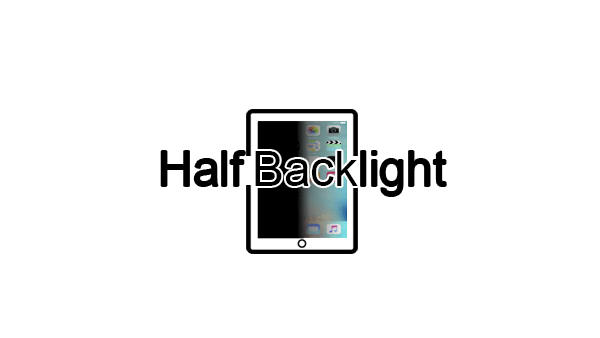 Half Backlight Not Working