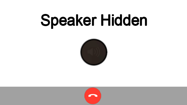 iPhone 7 Speaker Hidden When Calling