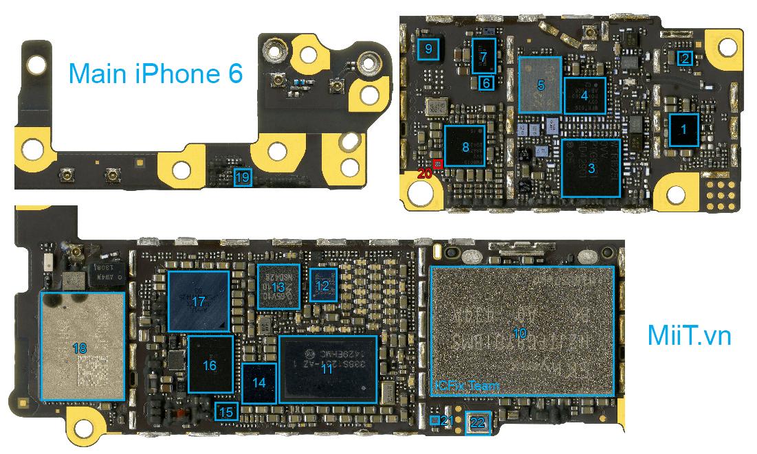 Linh Kiện iPhone 6 Mặt Sau