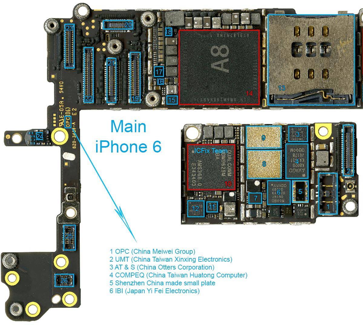 Linh Kiện Mặt Trước iPhone 6