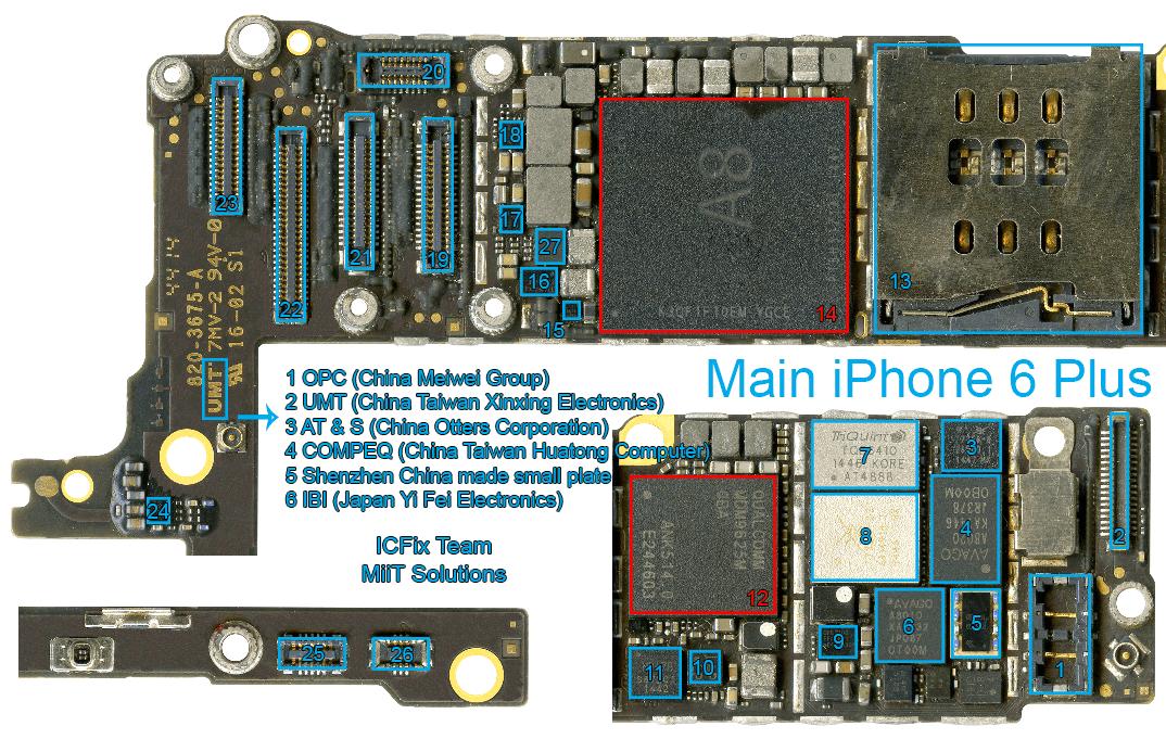 Linh Kiện Mặt Trước iPhone 6 Plus