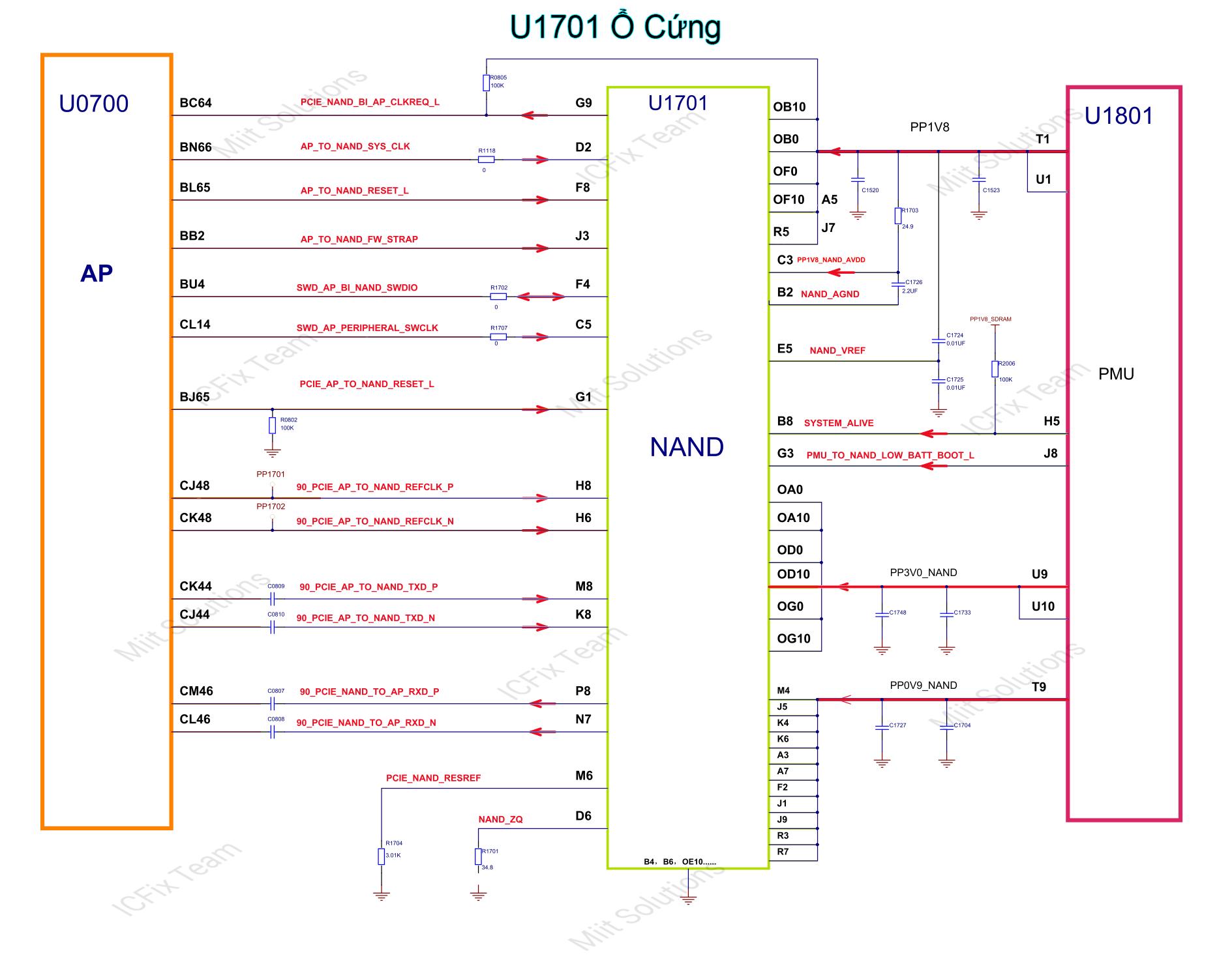 U1701 ổ cứng PCIE iPhone 7