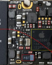 iPhone 4 xem youtube tự mất nguồn chạm VCC Main