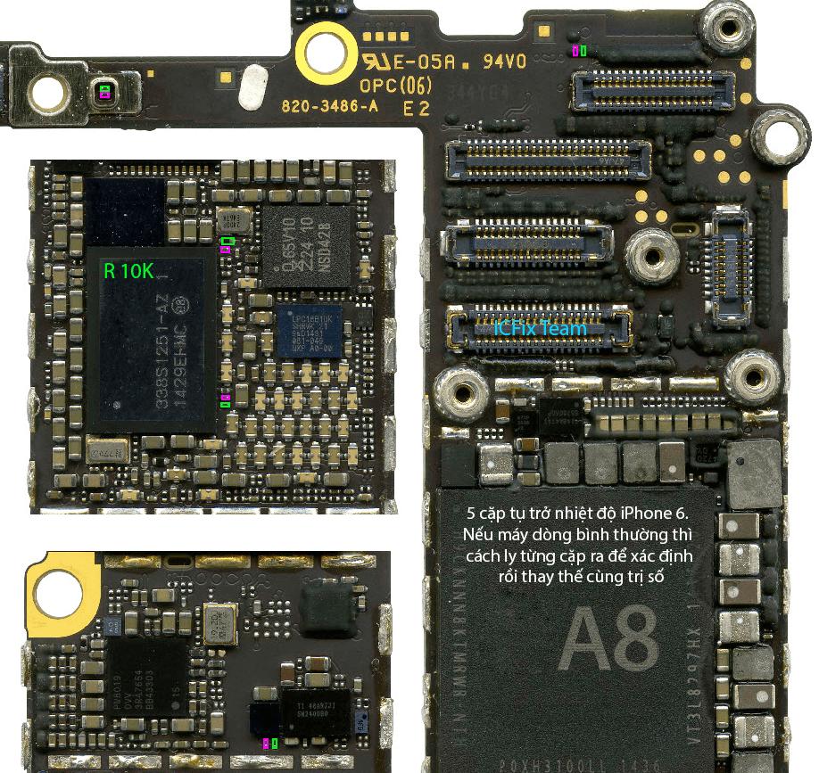 iPhone 6 báo nhiệt độ cao tắt máy