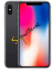 Các linh kiện cần thiết phải ký tên khi sửa iPhone X